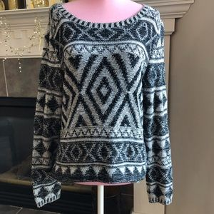Lucky Brand Black and White Sweater Size Small